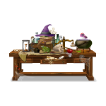 Animated Witch School Table