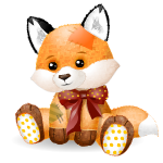 Supersize Patchwork Fox Plushie