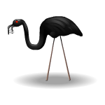 Black Vampire Flamingo 2