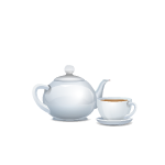 Teapot and Cup of Tea Set