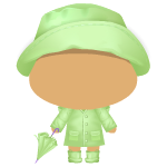Green Rain Outfit