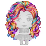 Multicolored Waves Wig