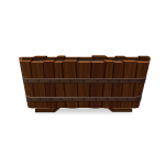 Animated Medieval Wooden Bath Tub