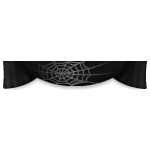 Spider Web Black Curtain Top