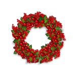 Red Foxberry Wreath
