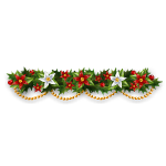 Red and White Poinsettia Garland