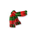 Green and Red Snowman Scarf