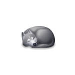 Animated Sleeping Huskie