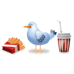 Animated Snacking Seagull