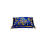Blue Royal Rococo Inspired Pillow 2