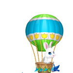 Animated Bunny in Balloon