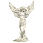 White Marble Angel Figurine