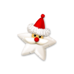 Santa Star Throw Pillow
