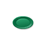 Oval Green Decorative Plate
