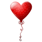 Red Heart Balloon with Hearts