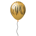 Tiger Striped Balloon