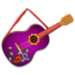 Hanging Purple Guitar
