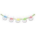 Horizontal Bunny Decor Garland
