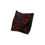 Angled Bloody Black Pillow 2