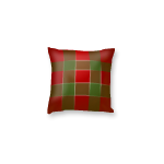 Red and Green Checkered Throw Pillow