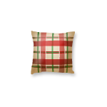 Beige Tartan Throw Pillow