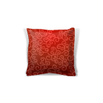 Red Silk Throw Pillow 1
