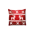 Christmas Reindeer Pattern Throw Pillow