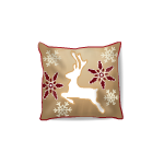 Jumping Reindeer Throw Pillow