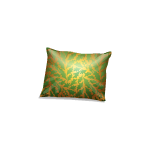 Gold and Green Mistletoe Patterned Pillow 2