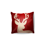 Reindeer Silhouette Throw Pillow