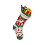 Knitted Christmas Stocking 1