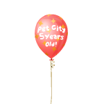 Pet City 5th Anniversary Balloon