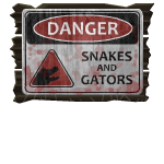 Swamp Danger Sign