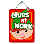 Elves at Work Sign