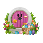 Easter Bunny House Porch