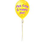 Pet City 6th Anniversary Balloon