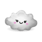 Kawaii Cloud Cushion