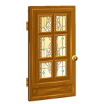 Stained Glass Door for Walk-Through Doorway