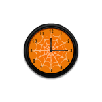 Spider Web Orange Clock