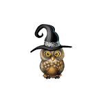 Owl in the Hat Decal