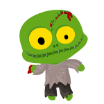 Green Zombie Decal