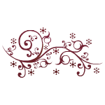 Red Twig Twirling Decal