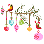 Santa's Helper Birds Decal
