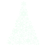 White Snowflake Tree Decal