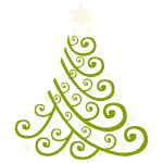 Green Christmas Tree Decal