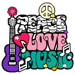 Peace Love Music Decal