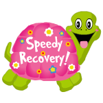 Speedy Recovery Turtle Decal