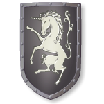 Medieval Unicorn Coat of Arms Shield