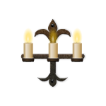 Three Candle Wrought Iron Sconce