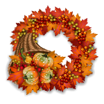 Fall Cornucopia Wreath